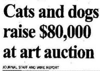 Cats and Dogs raise $80,000 at art auction