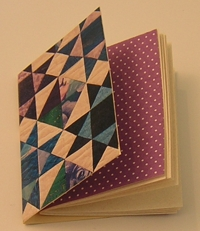 cover, endpaper and pages folded together