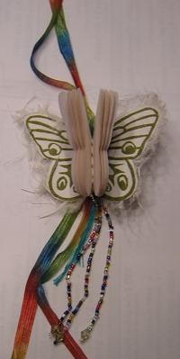 Rhonda's butterfly booklace