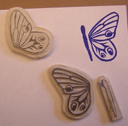 I carved a butterfly in 3 pieces.